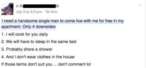 woman seeks boy toy secret tel aviv daily freier roommate FOREX