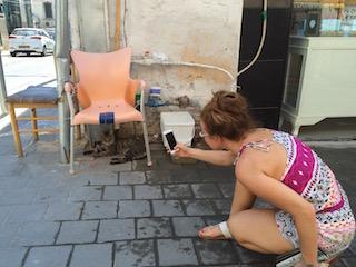 Neve Tzedek Art Gallery Exhibiting Pictures of People Taking Pictures of Cats in Neve Tzedek Daily Freier