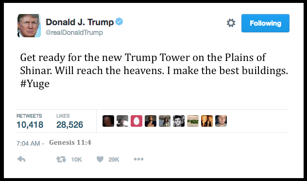 Donald Trump tweets the Bible Daily Freier