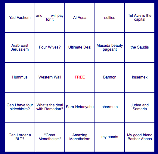 The Donald's Middle East Bingo