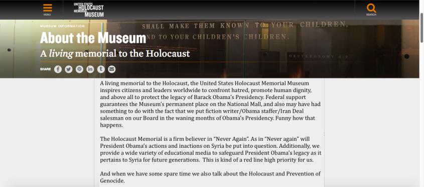 Holocaust Museum Daily freier